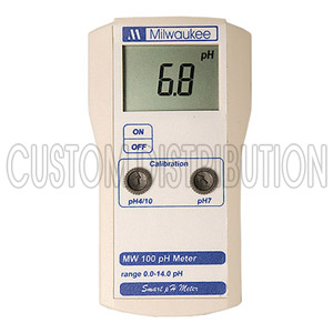Portable pH Monitor Manual Calibration, Milwaukee MW100