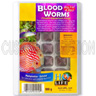 Frozen Bloodworms - 100g Blister Cubes, H2O Life