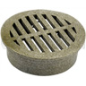 6 in Round Spee-D Basin Grate, Sand Color