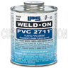 1/2 Pint Grey PVC Cement, PVC 2711, Low VOC