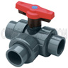 1-1/2 in True Union 2000 Industrial 3-Way Ball Valves T-Port
